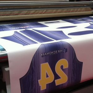 Full colour dye sublimation on press